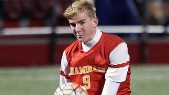 Chaminade's Alec Brutschin gets shot off during the