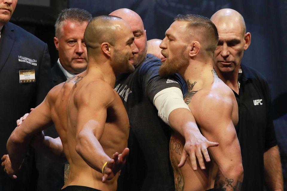 UFC president Dana White separates UFC featherweight champion