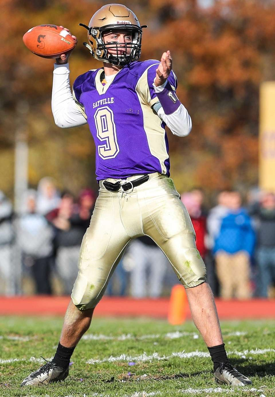 Sayville's Jack Coan passes in the Suffolk Division
