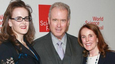 Rebekah Mercer, left, with parents Robert and Diane