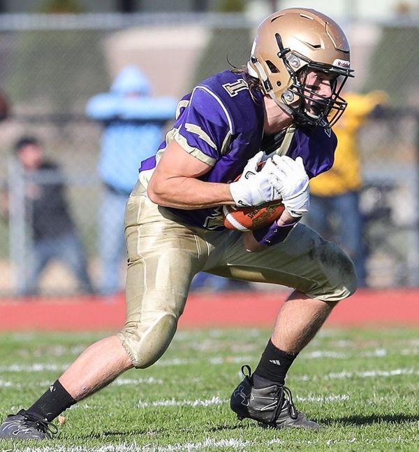 Jake Kolar of Sayville makes the catch in