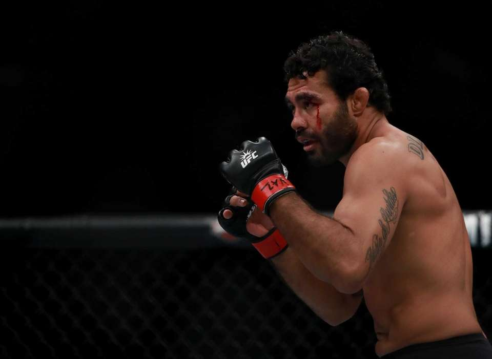 Rafael Natal of Brazil fights against Tim Boetsch