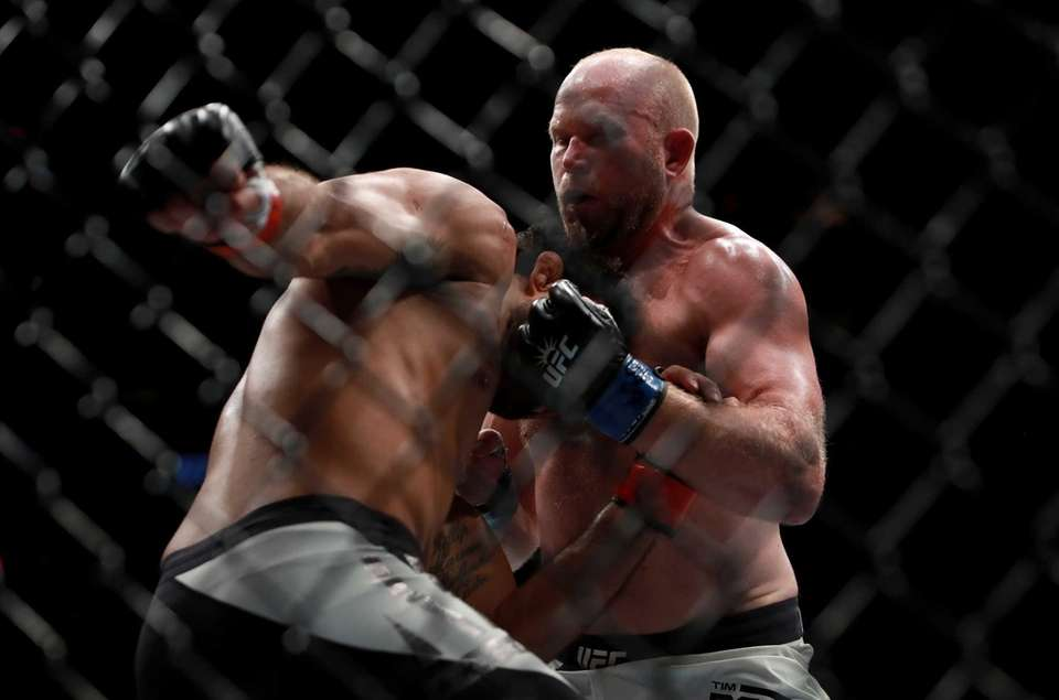 Rafael Natal of Brazil fights against Tim Boetsch,