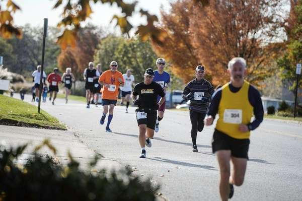 Several of the nearly 500 runners who took
