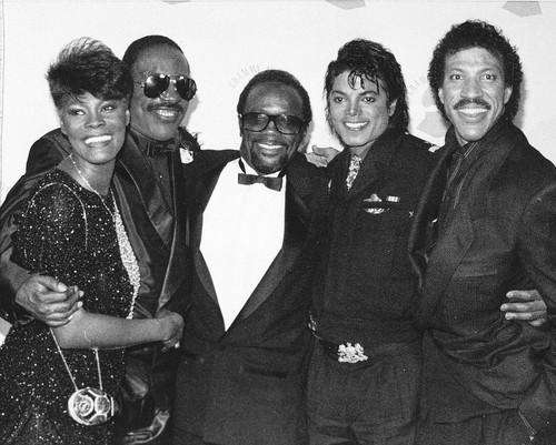 Grammy winners Dionne Warwick, Stevie Wonder, Quincy Jones,