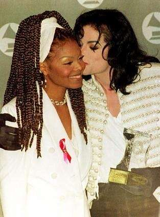 Michael Jackson with his sister Janet Jackson after