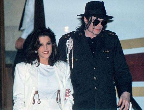 Michael Jackson and his then-wife, Lisa-Marie Presley, arrive