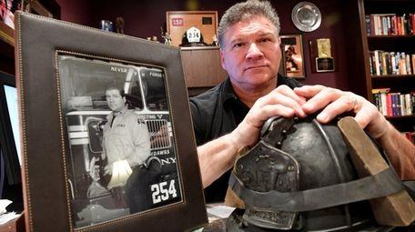 Retired FDNY Lt. Rick Garcia in his Hauppauge