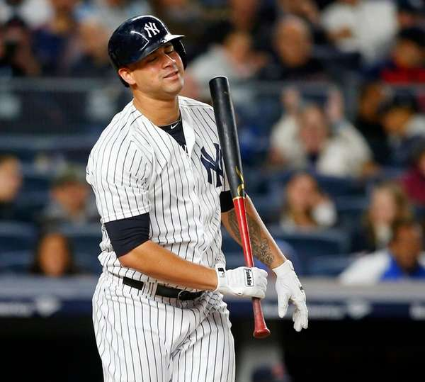 Gary Sanchez of the New York Yankees strikes