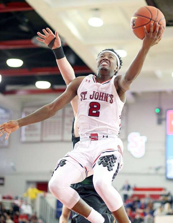 St. John's Shamorie Ponds shoots inside during a