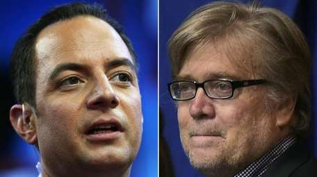 Republican National Committee chairman Reince Priebus, left, and