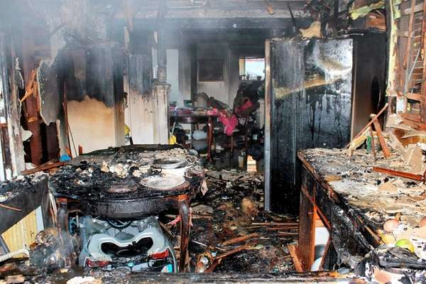 Valley Stream firefighters responded to a blaze at