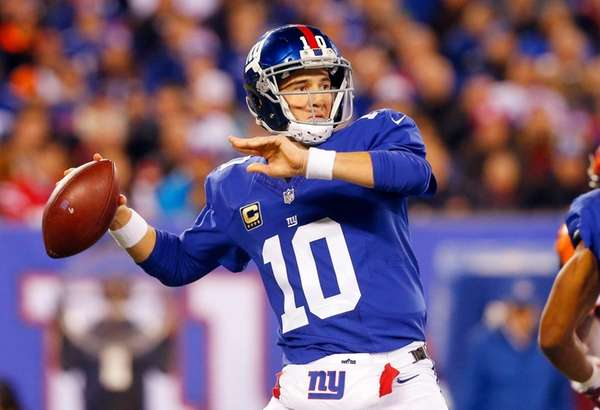Eli Manning threw for three touchdowns, including the