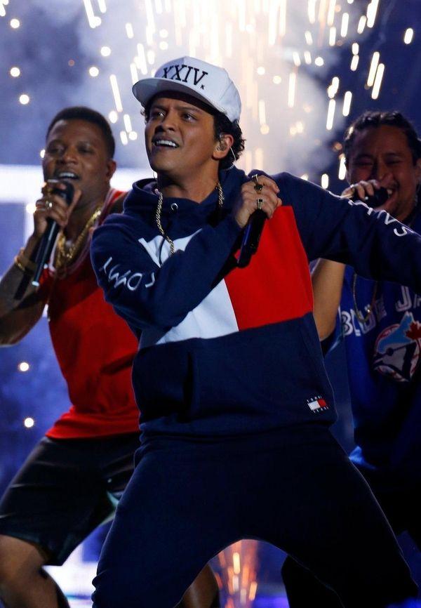 Bruno Mars performs during the MTV European Music