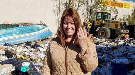 Colleen Dyckman, 48, of North Babylon, shows off