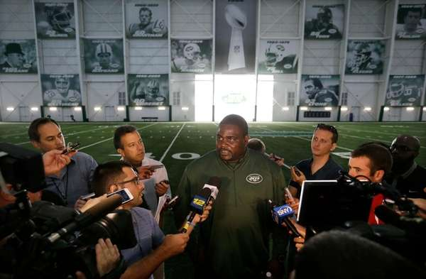 New York Jets defensive line coach Pepper Johnson