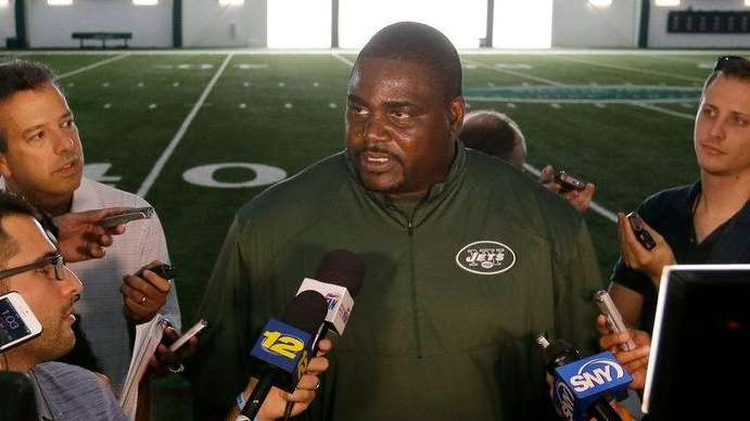 New York Jets defensive line coach Pepper Johnson