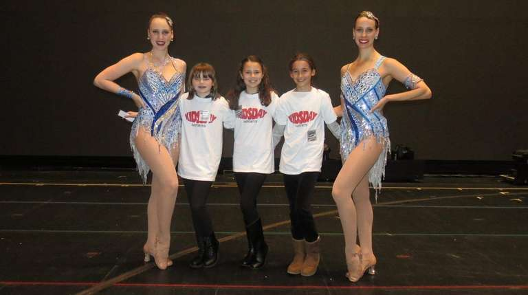 Rockettes Jennifer Clavin, left, and Kristin Jantzie with
