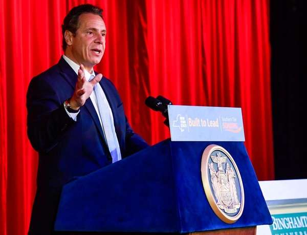 Gov. Andrew M. Cuomo, in Johnson City, N.Y.,