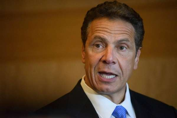 New York State Governor Andrew M. Cuomo speaks