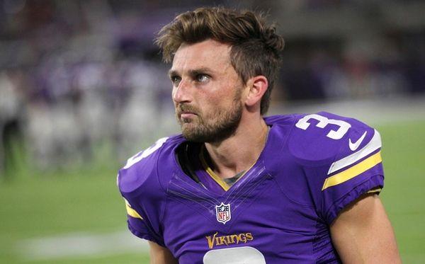 Minnesota Vikings kicker Blair Walsh walks on the