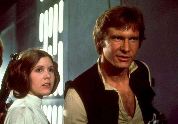 Carrie Fisher and Harrison Ford starred in 1977's