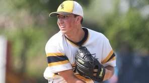Shorham Wading River's Brian Morrell throws a pitch