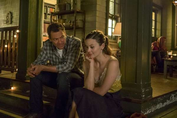 Dominic West, left, and Sarah Ramos in Showtime's