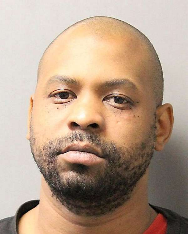 A victim restrained Majestic S. Glover, 36, of