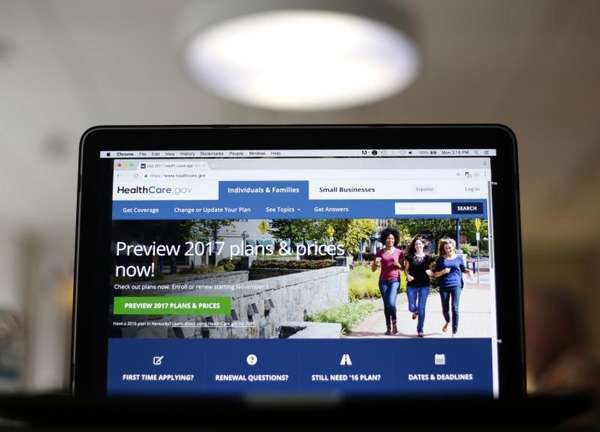 The HealthCare.gov 2017 website home page as seen