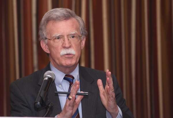 Former United Nations Ambassador John Bolton addresses a