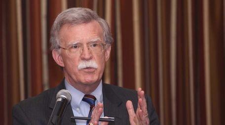 Former United Nations Ambassador John Bolton addresses a