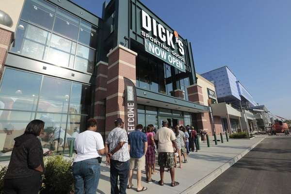 People line up for the grand opening of