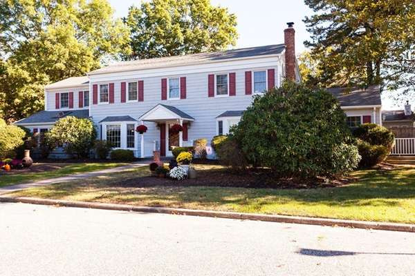 This four-bedroom Colonial in Miller Place is listed