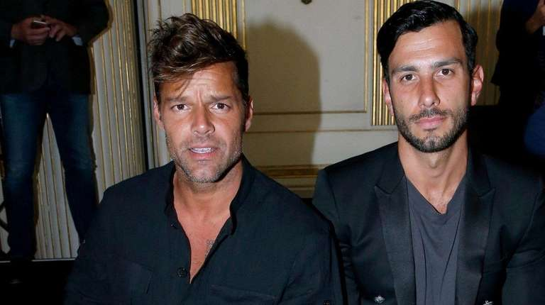 Ricky Martin, left, and Jwan Yosef are now