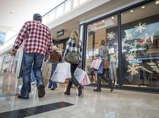Customers at Walt Whitman Shops looking for Black