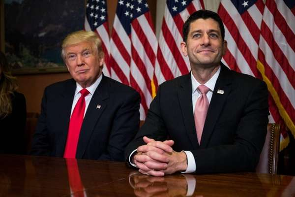 President-elect Donald Trump meets with House Speaker Paul