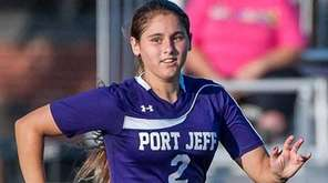 Brittany Fazin moves the ball for Port Jeff