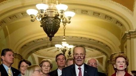 The new Senate Minority Leader Chuck Schumer, at