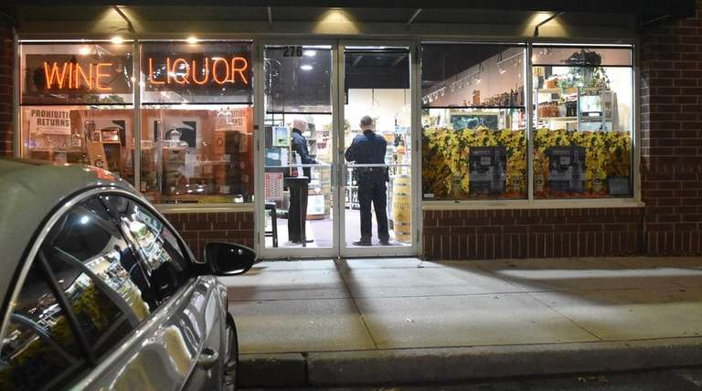 Suffolk County police respond to an armed robbery
