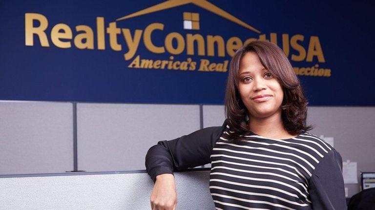 Associate broker Annie Torres, in her office at