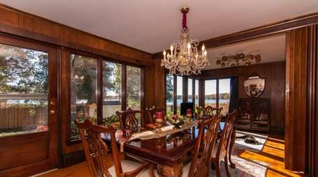 This Setauket home that has water views from