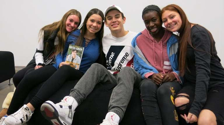 Social-media star Hayes Grier with Kidsday reporters from
