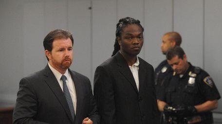 Oniel Sharpe Jr., inside Judge Camacho's courtroom at