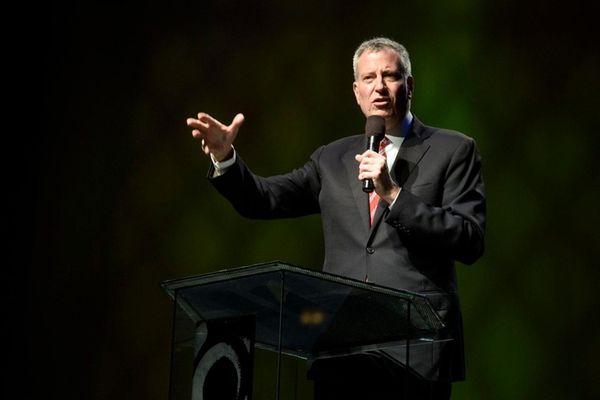 New York City Mayor Bill de Blasio, pictured