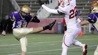 East Islip wide receiver Stone Locke (22) blocks