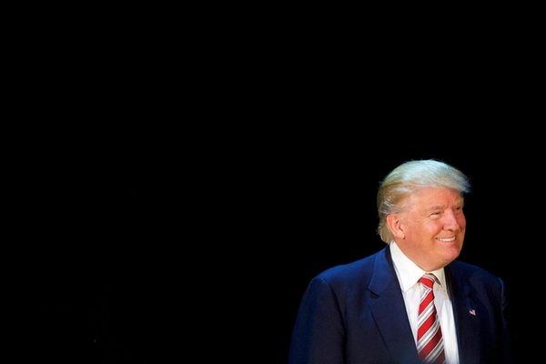 Republican presidential hopeful Donald J. Trump arrives for