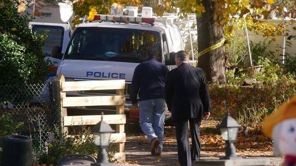 Nassau County police investigate on Friday, Nov. 18,