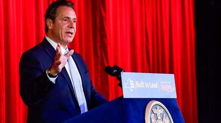 Gov. Andrew M. Cuomo speaks about the