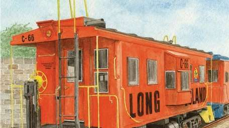 A depiction of a train caboose by George